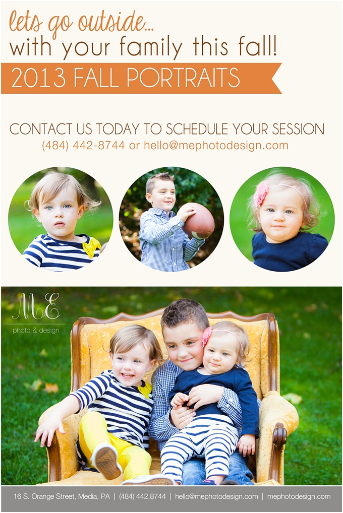 West Chester PA Fall Family Portraits ME Photo & Design Media PA Photographer