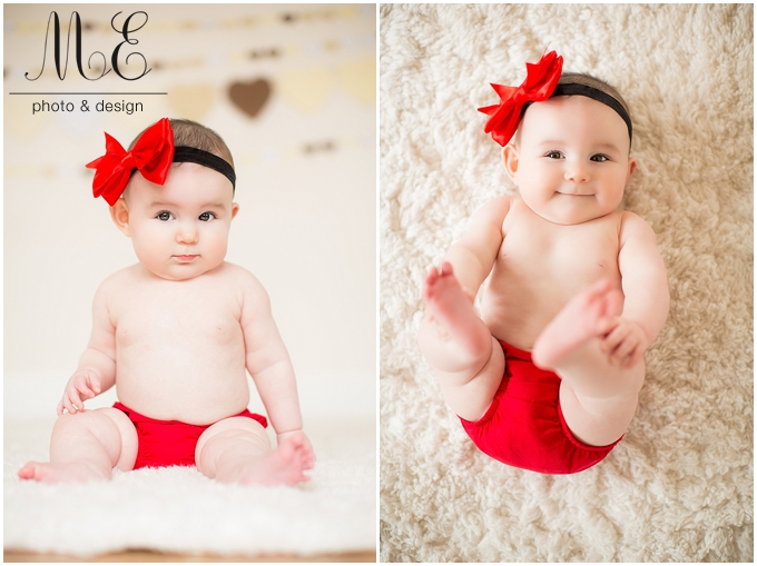 Media PA Children's Portrait Photography | Valentine's Sessions | Emily 6 Months Session