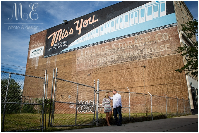 Philadelphia PA Portrait Photographer | Love Letter Murals | Ashlei and Dave