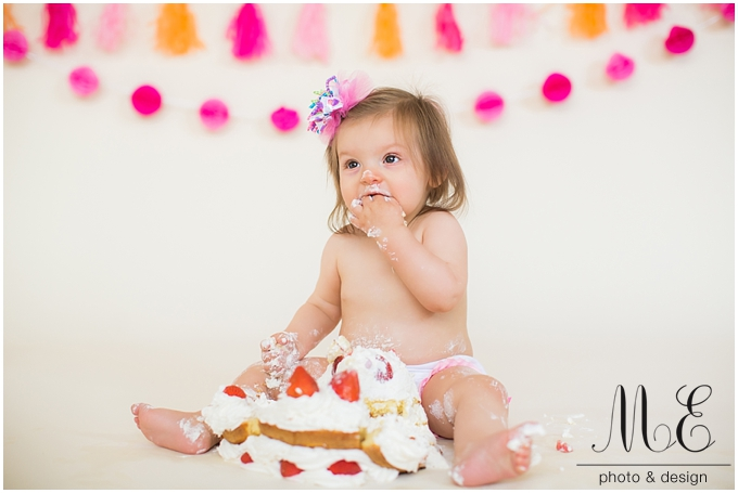 Main Line PA Cake Smash Photographer | Riley 1st Birthday