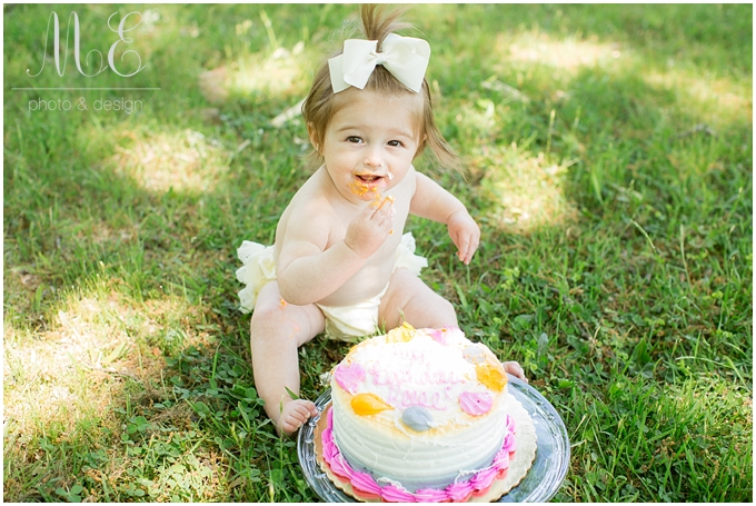 Main Line PA Cake Smash Photographer | Reese 1st Birthday