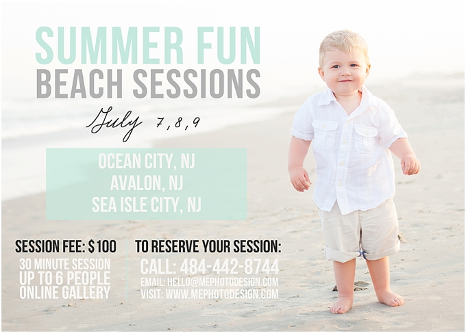 Ocean City NJ Beach Portrait Photography