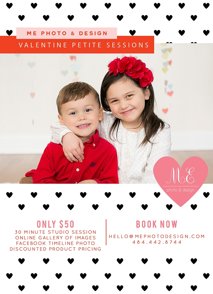 Philadelphia PA Valentine's Day Portrait Photography Sessions