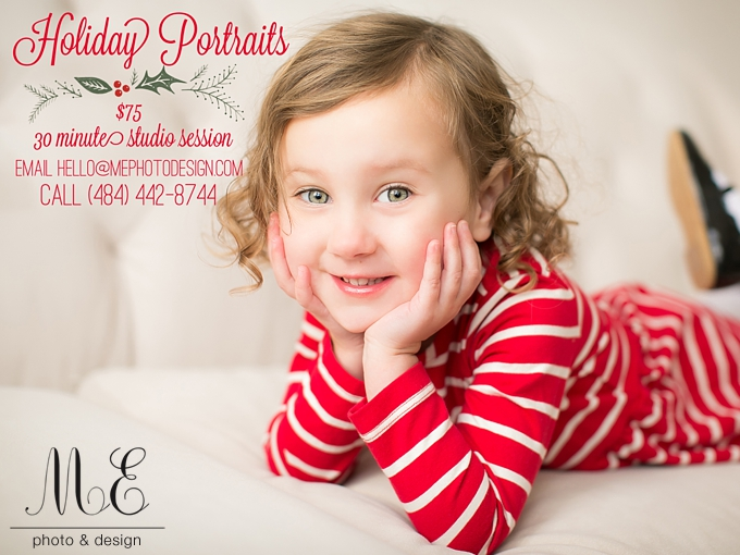 Philadelphia PA Christmas Holiday Portraits Photography Sessions