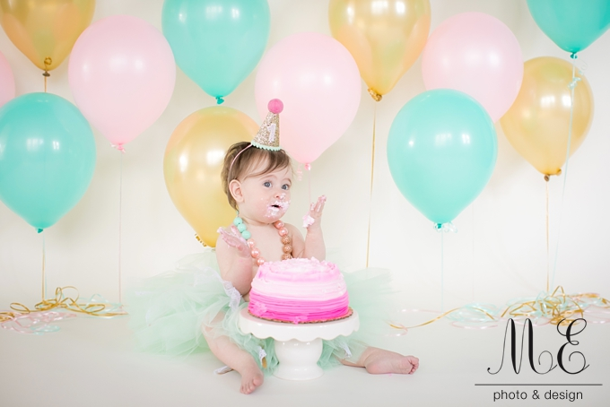 Philadelphia 1st Birthday Cake Smash Photography ME Photo & Design