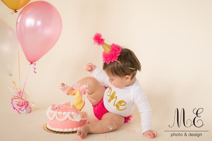 Philadelphia PA Cake Smash Portrait Photographer ME Photo & Design